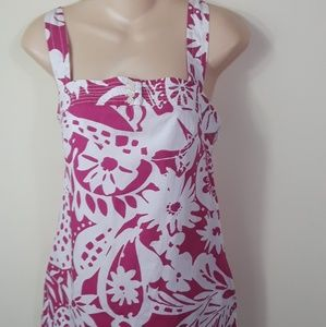 J. Crew Size 2 Pink Floral Dress Lined Sleeveless
